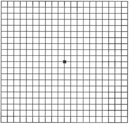 Amsler grid to check your eyesight